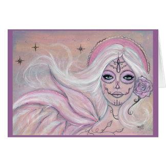 Día rosado de Paloma de la tarjeta de felicitación