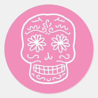 Día rosado del cráneo muerto etiquetas