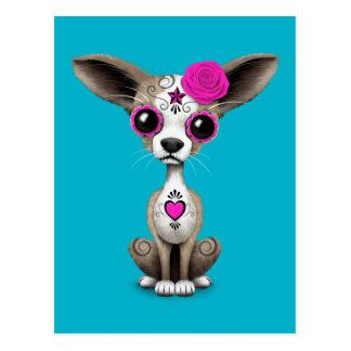 Día rosado del perrito muerto de la chihuahua del postales