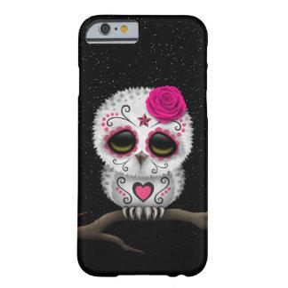Día rosado lindo de las estrellas muertas del búho funda de iPhone 6 barely there