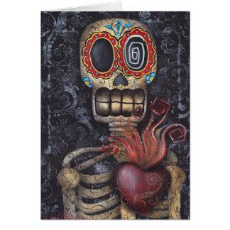 Día sagrado del corazón de los muertos tarjeta de felicitación