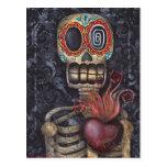 Día sagrado del corazón de los muertos tarjeta postal