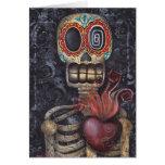 Día sagrado del corazón de los muertos tarjetas