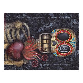 Día sagrado del corazón de los muertos tarjetas postales