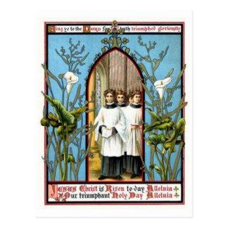 Día santo triunfante postal