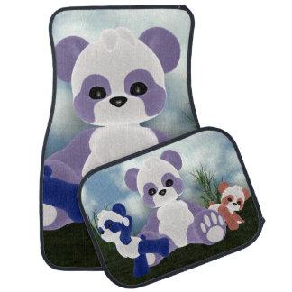 Día soleado de Bearz de la panda Alfombrilla De Auto