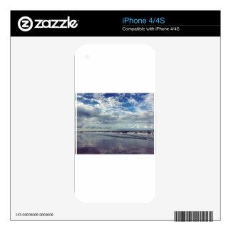 día soleado de la playa calcomanía para el iPhone 4