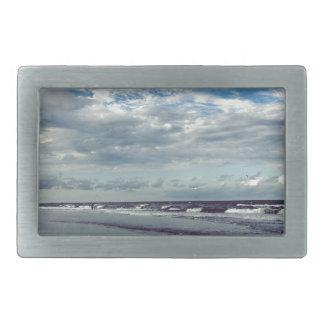 día soleado de la playa hebilla de cinturón rectangular