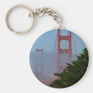 Día soleado de San Francisco Llavero Redondo Tipo Pin