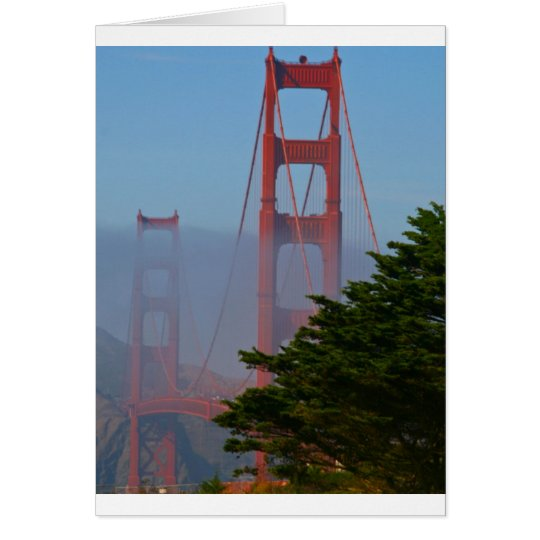 Día soleado de San Francisco Tarjeta De Felicitación