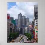 Día soleado de Tokio (grande) Póster