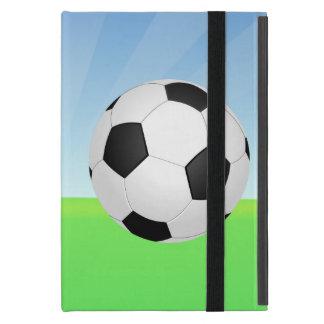 Día soleado del balón de fútbol iPad mini funda