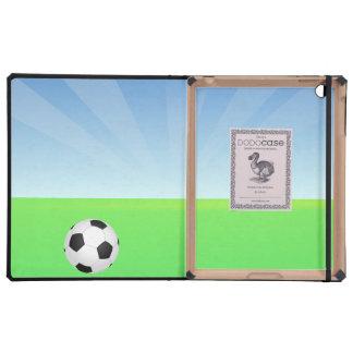 Día soleado del balón de fútbol iPad protector