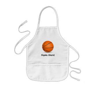 Día soleado del baloncesto de los deportes del delantal infantil