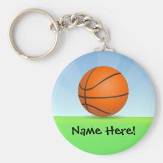 Día soleado del baloncesto de los deportes del llaveros personalizados