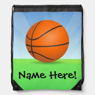 Día soleado del baloncesto de los deportes del niñ mochila