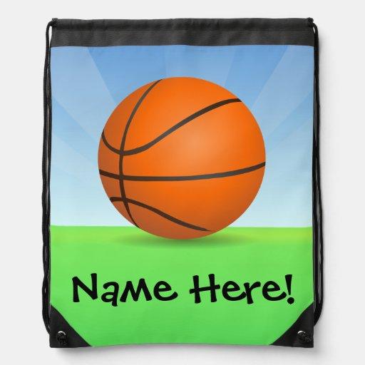 Día soleado del baloncesto de los deportes del niñ mochilas