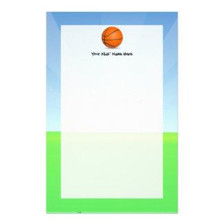 Día soleado del baloncesto de los deportes del papeleria de diseño