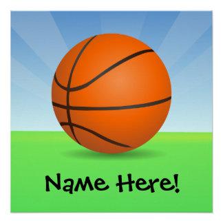 Día soleado del baloncesto de los deportes del perfect poster