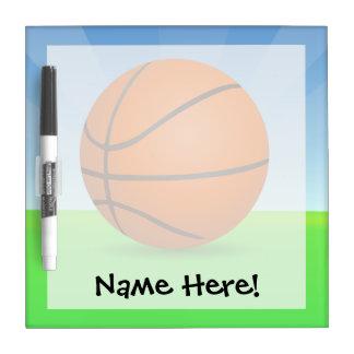 Día soleado del baloncesto de los deportes del pizarras blancas