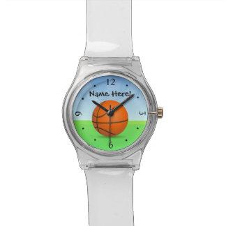 Día soleado del baloncesto de los deportes del relojes de pulsera