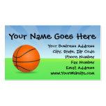 Día soleado del baloncesto de los deportes del tarjeta de negocio