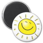 ¡Día soleado, sol sonriente, día a sonreír! Imán Redondo 5 Cm
