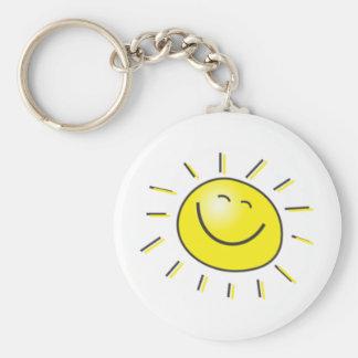 ¡Día soleado, sol sonriente, día a sonreír! Llavero Redondo Tipo Pin