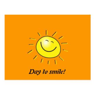 ¡Día soleado, sol sonriente, día a sonreír! Postales