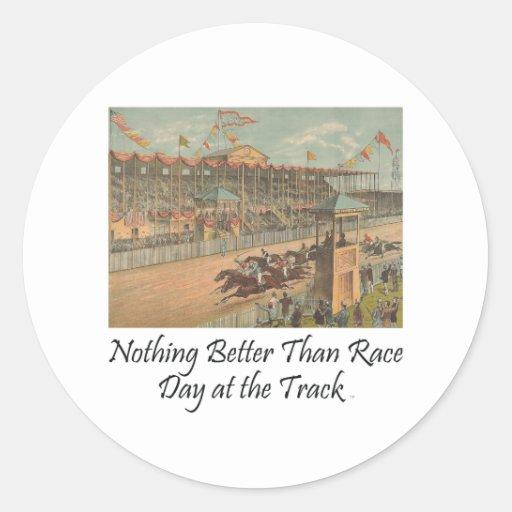 Día SUPERIOR de la raza en la pista Pegatinas