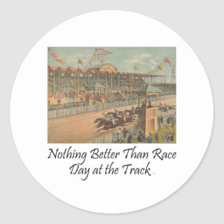 Día SUPERIOR de la raza en la pista Pegatina Redonda
