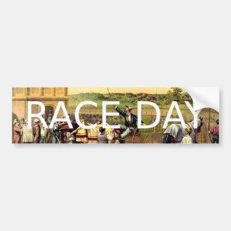 Día SUPERIOR de la raza Pegatina Para Auto