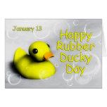 Día tarjeta ~ 13 de enero Ducky de goma