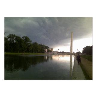 Día tempestuoso del Washington DC Tarjeta De Negocio