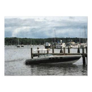 """Día tempestuoso en el puerto Essex CT Invitación 5"""" X 7"""""""