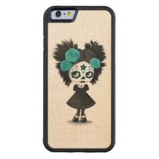 Día tímido del chica muerto con los ojos grandes funda de iPhone 6 bumper arce