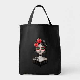 Día triste del chica muerto bolsa tela para la compra