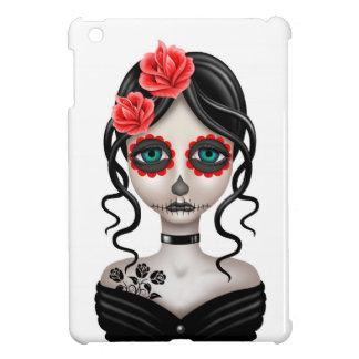 Día triste del chica muerto en blanco iPad mini protectores