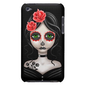 Día triste del chica muerto en negro iPod Case-Mate protector
