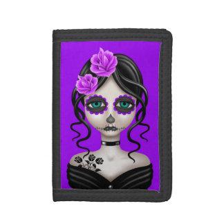 Día triste del chica muerto en púrpura