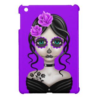 Día triste del chica muerto en púrpura iPad mini carcasa