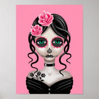 Día triste del chica muerto en rosa posters