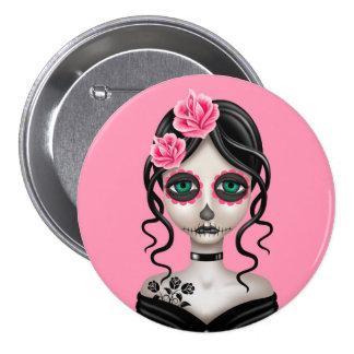 Día triste del chica muerto en rosa pin