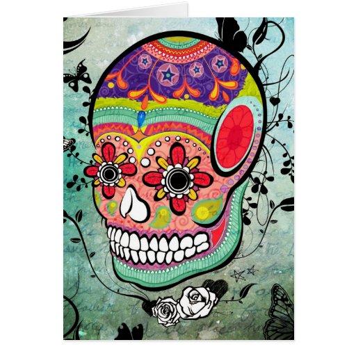 Día urbano de Muerte de la tarjeta muerta del ejem