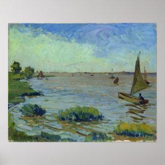 Día ventoso en el Elba, 1911 Póster