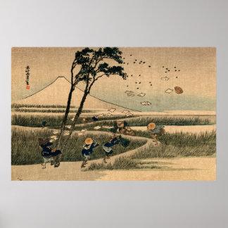 Día ventoso en Japón no.1 Póster