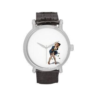 Día ventoso para un paseo relojes de pulsera