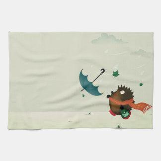 día ventoso toallas de mano