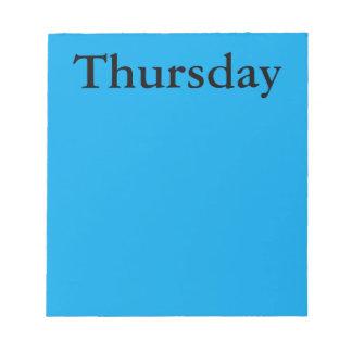 Día visual de la herramienta del calendario de la  blocs de papel