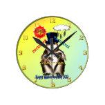 Día Wallclock de las Decisión-Decisiones-Groundhog Reloj
